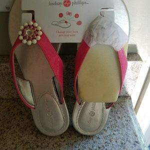 Lindsay Philips wedge sandal.